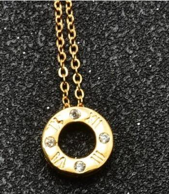 2d4bd8b1e9a3 Collar Dije Circulo Números Romanos Moda Bisuteria Vintage -   40.00 ...