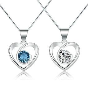 796db6e997e Collar Perla Titnta Corazon Azul Oro Perlas - Collares y Cadenas Oro ...