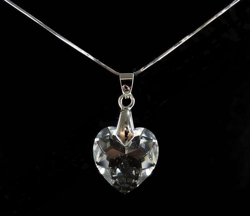 4500eaca5f01 Collar Dije Corazon Crystal Swarovski Elements Plata925