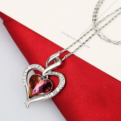 collar dije corazón!! y pendientes element swarovski amor...