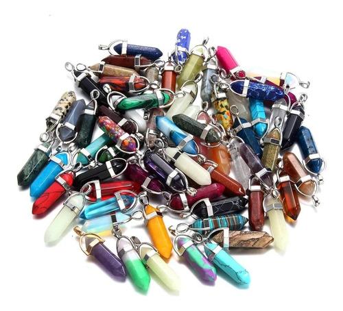 collar dije cuarzo cristal, mayoreo, 33 modelos disponibles