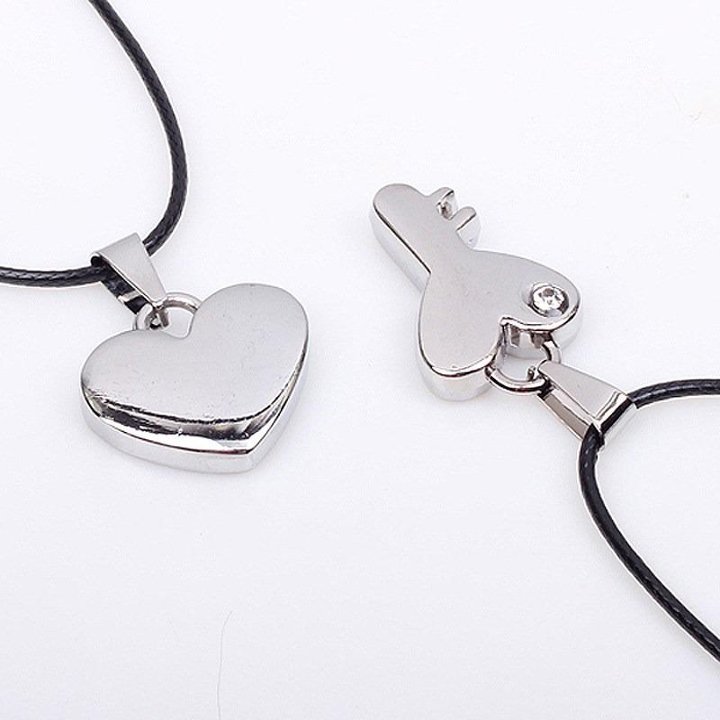 collar dije pareja corazón + llave acero inoxidable amor! Cargando zoom.