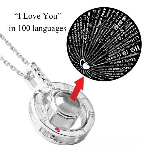 collar dije te amo 100 idiomas 3 tonos