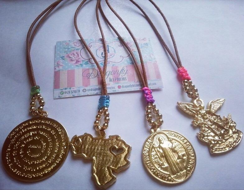 Collar dijes varios ba o de oro bisuteria moda bs 160 - Bano de oro precio ...