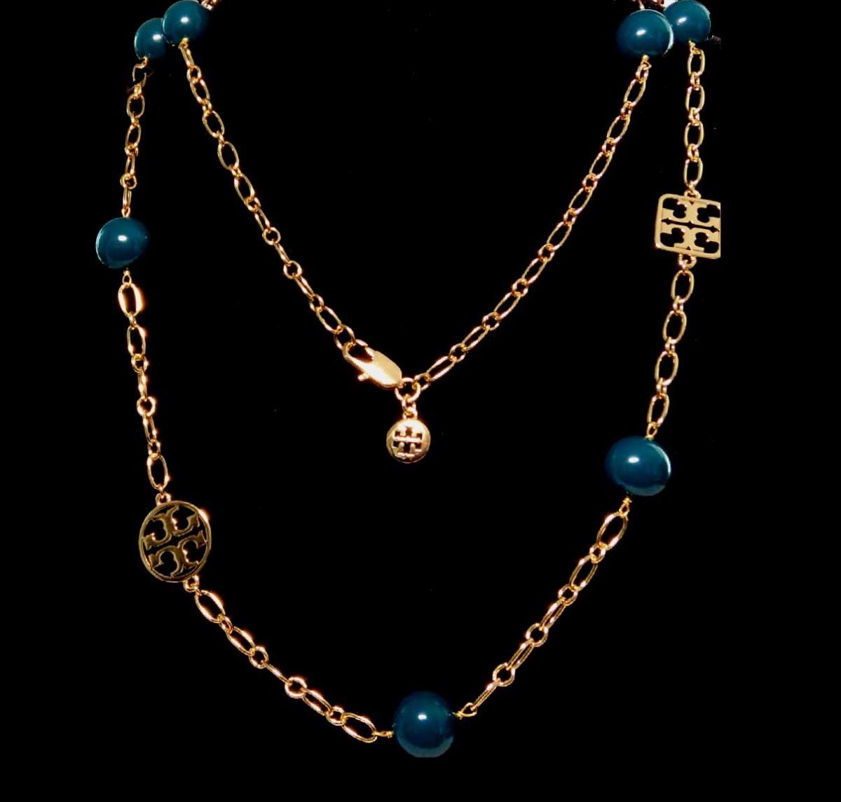 16dddca1f802 collar dorado con esferas verdes tory burch. Cargando zoom.