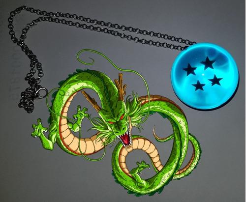 collar dragon ball esfera azul 4 estrellas