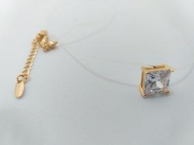8c2e675dc0b9 Collar Elástico Transparente Broche Chapa Oro 18k Zirconia G