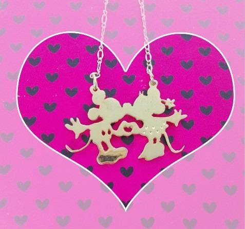 Collar enamorados pareja mickey minnie kiss s 4800 en mercado collar enamorados pareja mickey minnie kiss altavistaventures Choice Image