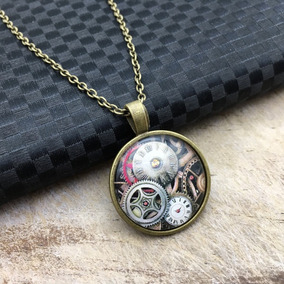 Moda Engranaje Steampunk Collar Vintage Reloj 4Rq35AjL
