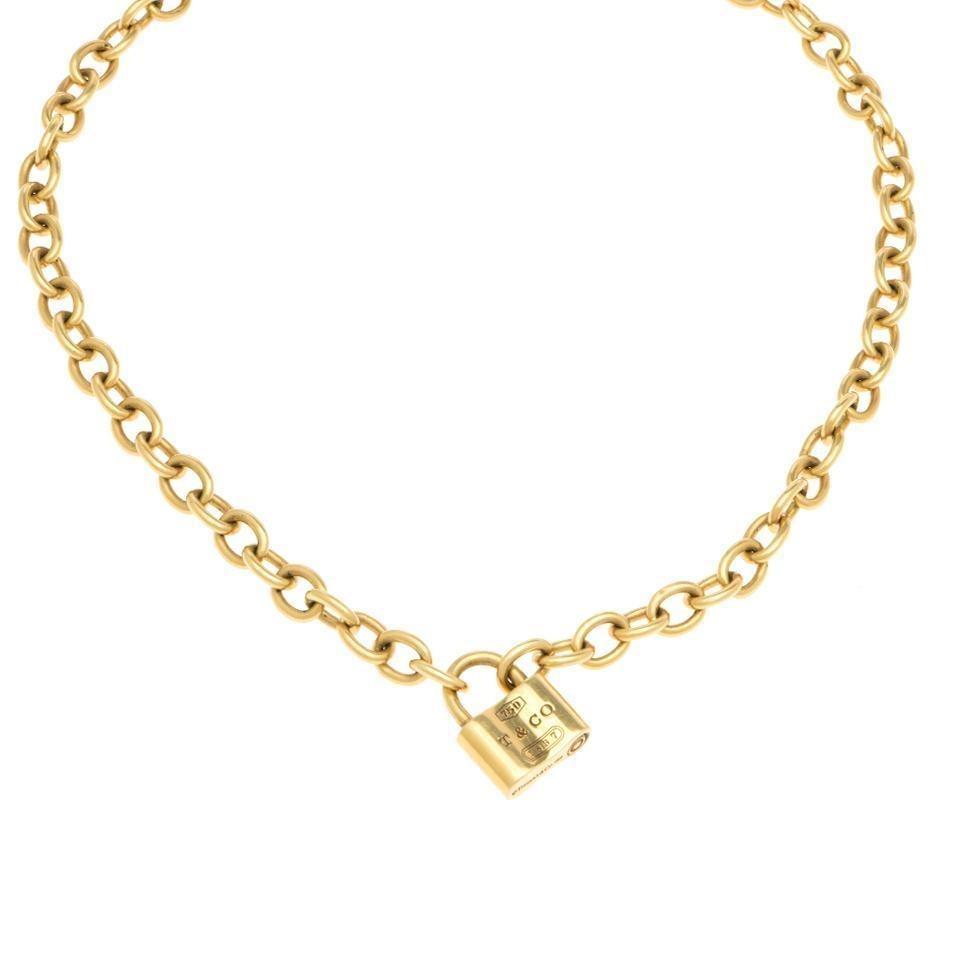 45190b9b543c Collar Eslabón Encontrado Marca Tiffany&co. Oro Amarillo. - $ 84,939.00