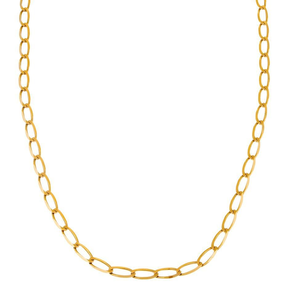 5a11449c5ba6 Collar Eslabón Encontrado Oro Amarillo. - $ 8,160.00