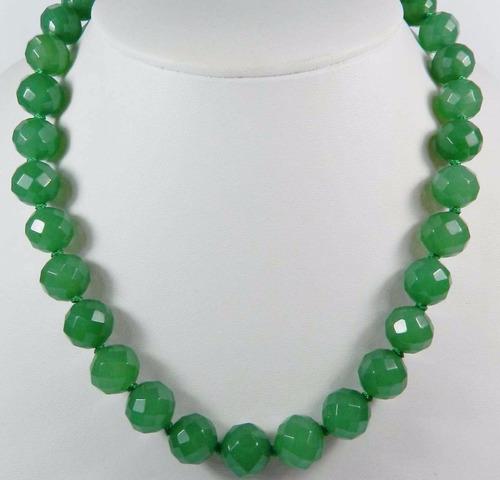 collar esmeraldas plata