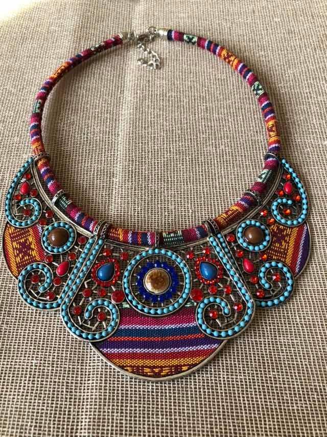 d68d237aa8c8 Collar Étnico Tejido Nuevo Moda -   250.00 en Mercado Libre