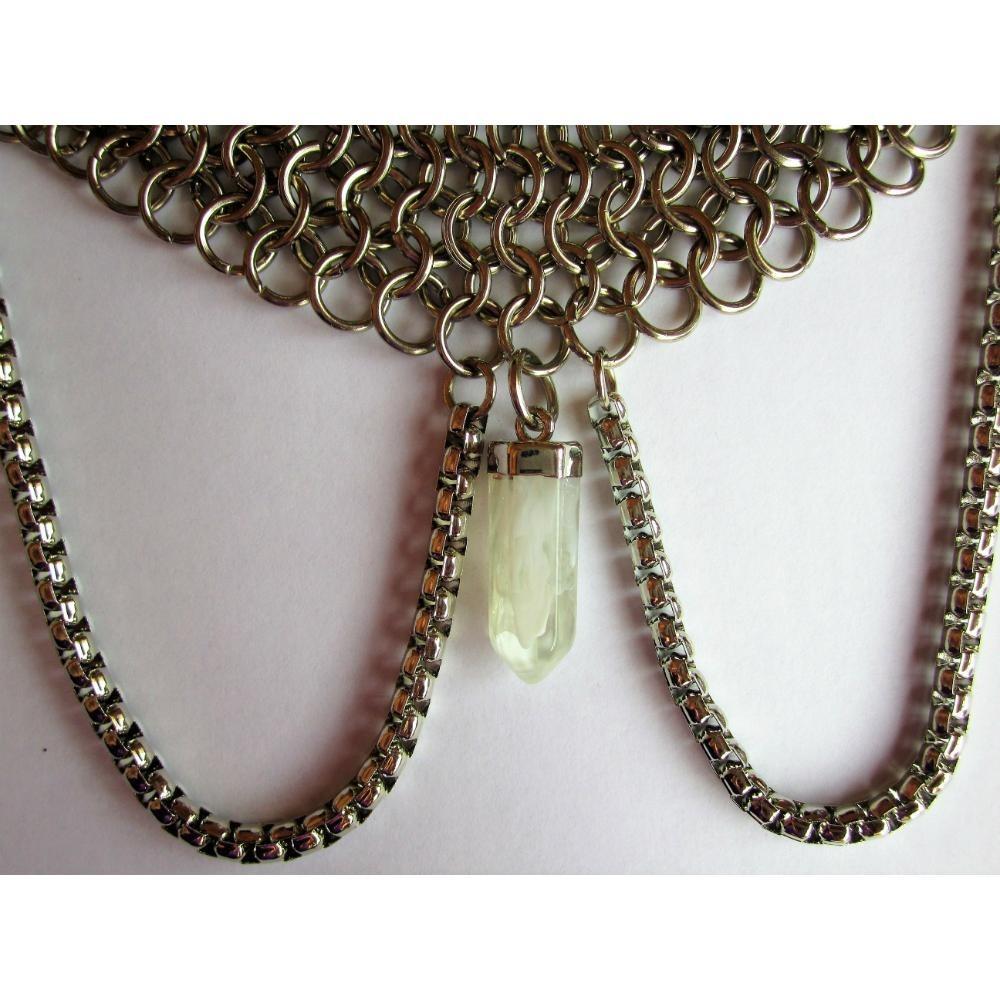 94dec5eb1da2 collar europeo con cadenas y cuarzo blanco. Cargando zoom.