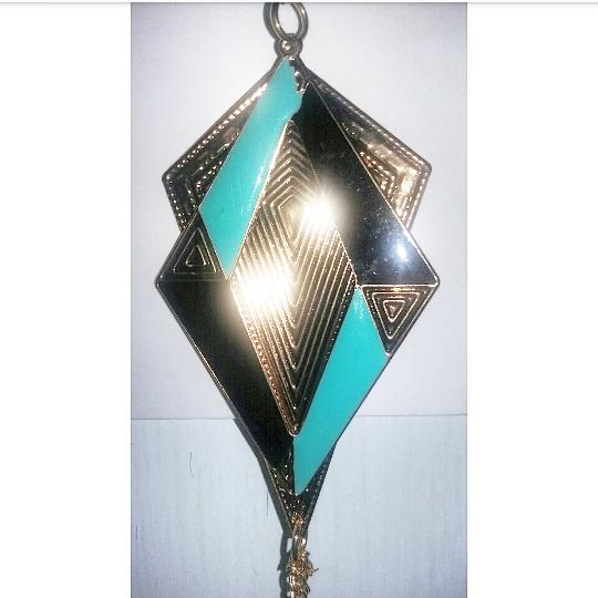f7fb2c829375 Collar Fantasía Color Dorado Con Negro Y Aqua. Nuevo -   120.00 en ...
