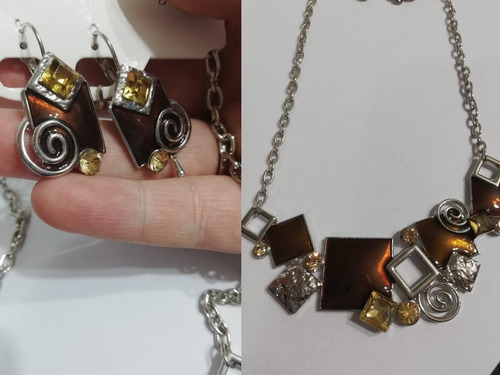 collar fantasía geometrico conjunto  (030506) elbauldecorina