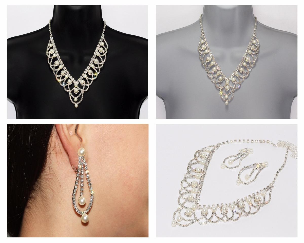 4f2ad3c5e3bf Collar Fiesta Elegante Vintage Perlitas Y Aretes Ce147 -   399.00 en ...