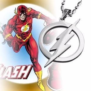 collar flash super héroe acero inoxidable