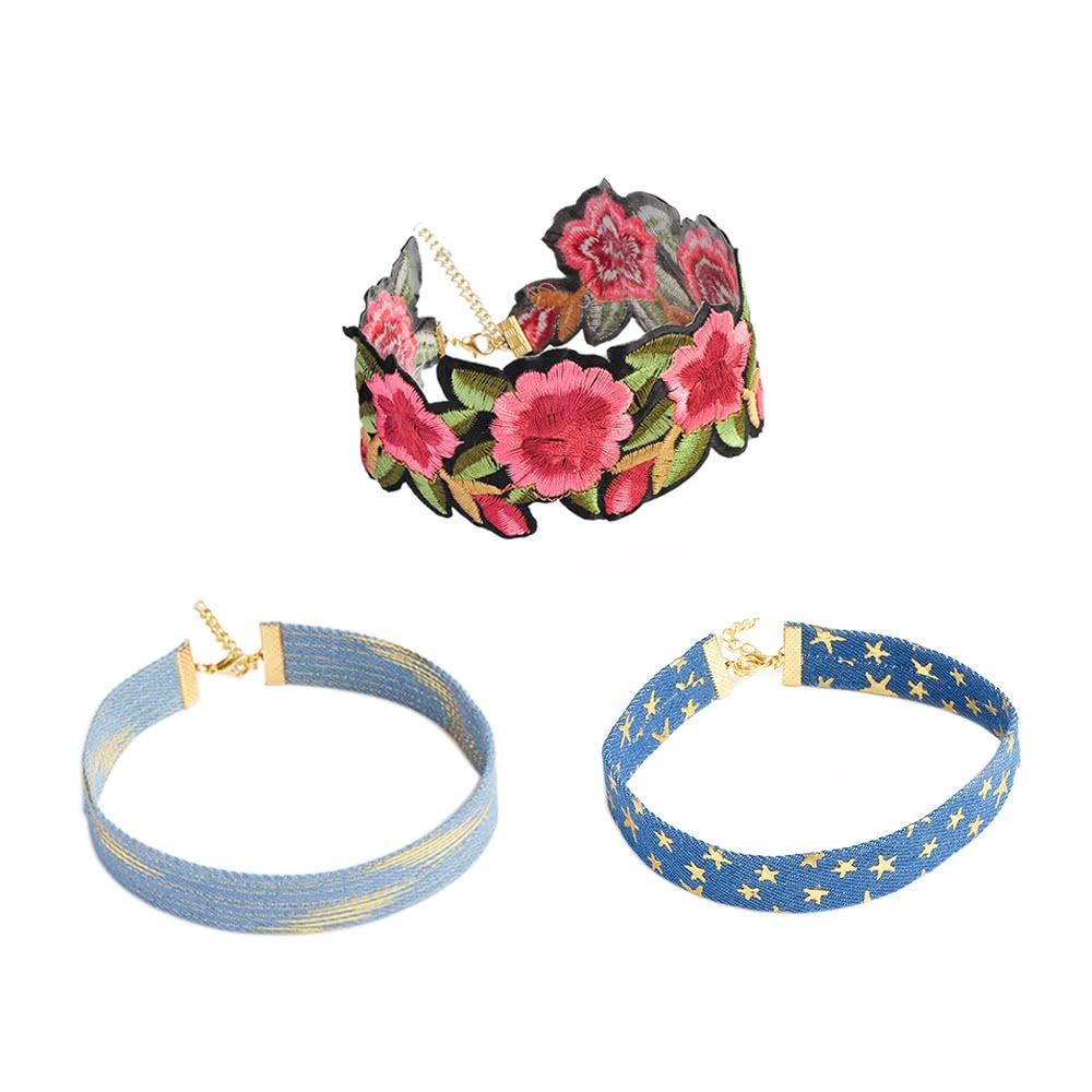 Collar Floral Bordado Hecho A Mano Retro Del #1 - $ 219.05 en ...