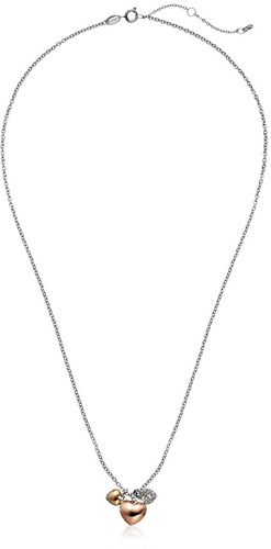 collar fossil heart charm, 20 -inch