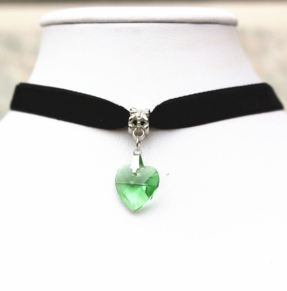 f9db9ca1c110 collar gargantilla choker corazón verde regalo amor g-028. Cargando zoom.
