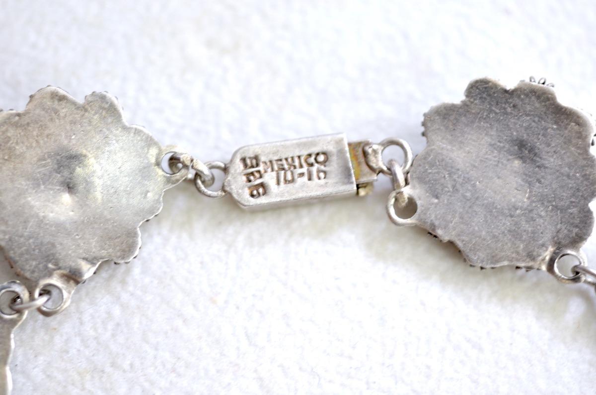 Vintage collar de plata cloisonn