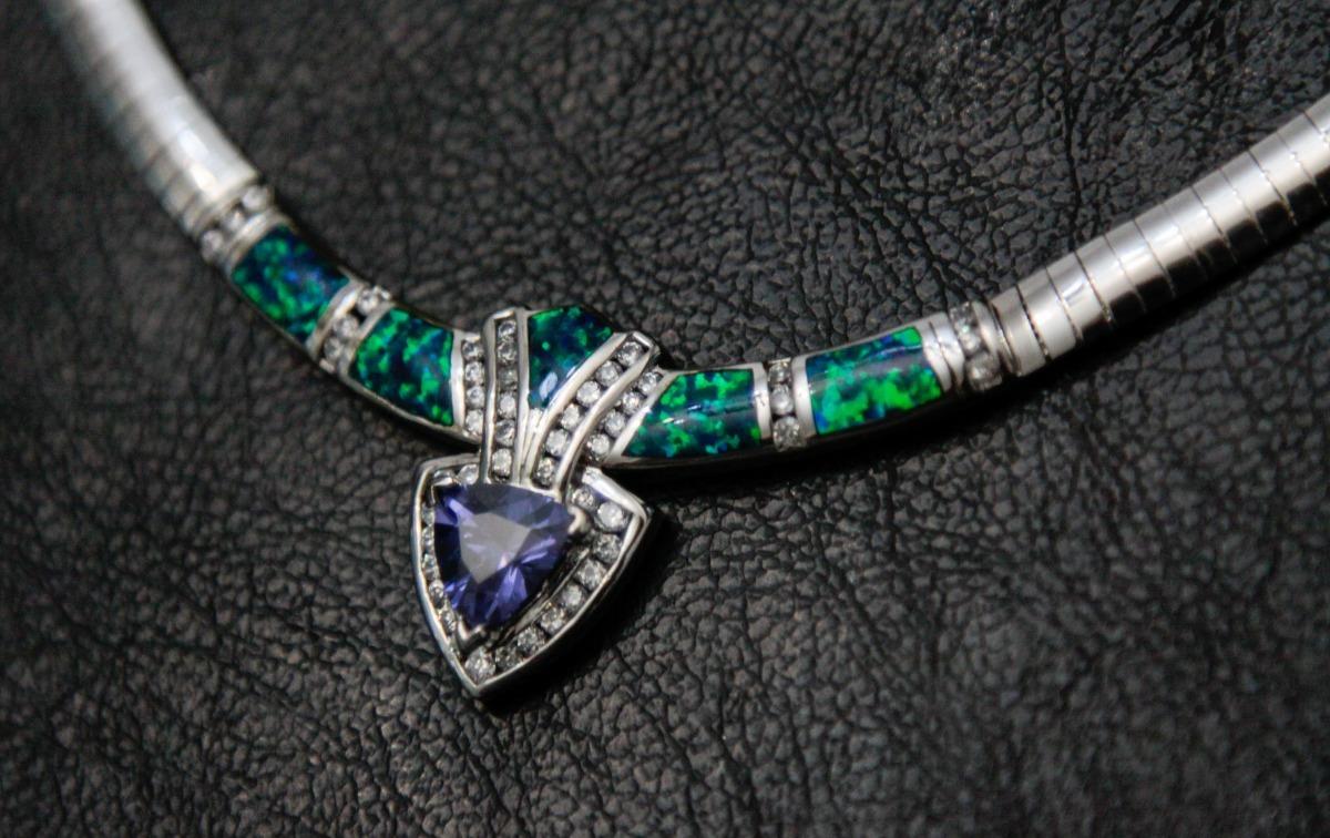 86ad1e7d73f2 collar gargantilla de plata 925 y piedras preciosas mexicano. Cargando zoom.