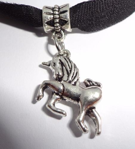 collar gargantilla dije unicornio