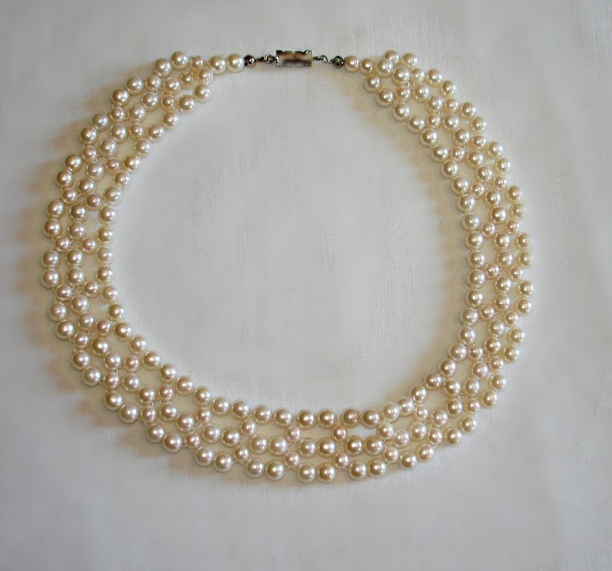 180c8dcd7b5a Collar Gargantilla Perlas De Fantasía Nuevo 38 Cm -   38.000 en ...