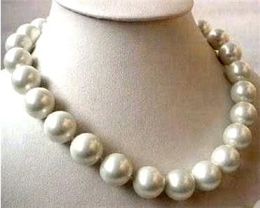 collar gargantilla perlas grandes 10 mm 23 cm