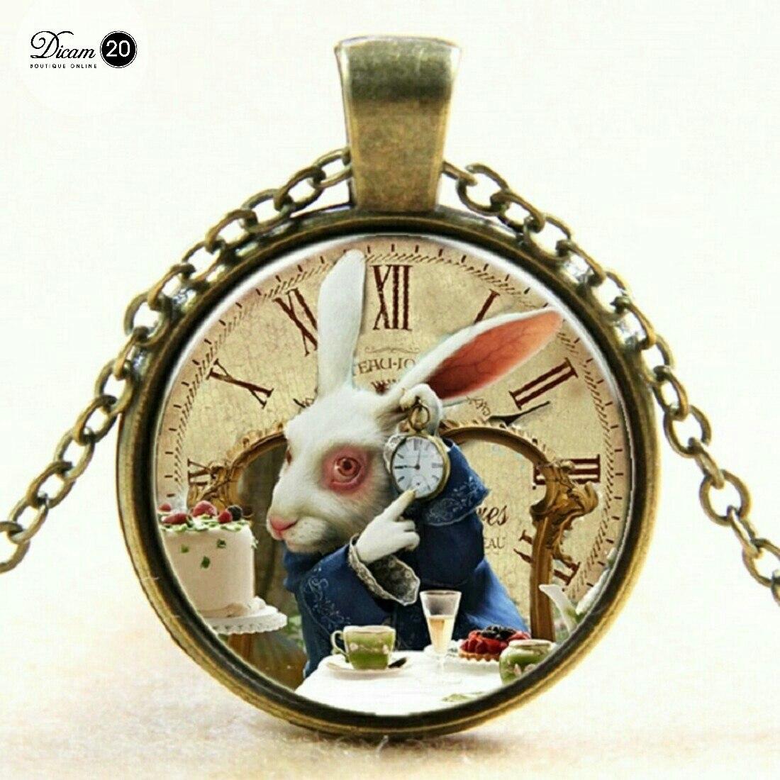 Collar gato y conejo alicia en el pais de las maravillas s 20 00 en mercado libre - Conejo de alicia en el pais de las maravillas ...