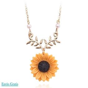 ecc6eff42dac Collar Girasol Delicado Creativo Mujer Primavera Accesorio