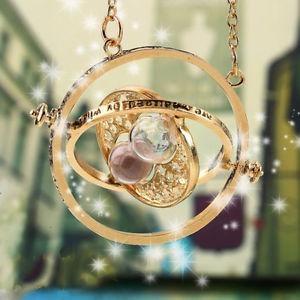 collar giratiempo oro harry potter gold + envio gratis