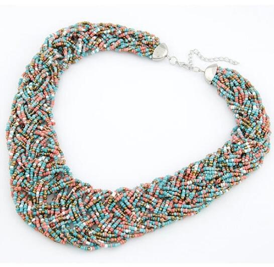 df05be651448 Collar Harmonie Accesorios Multicapa Mostacilla Entrelazada ...