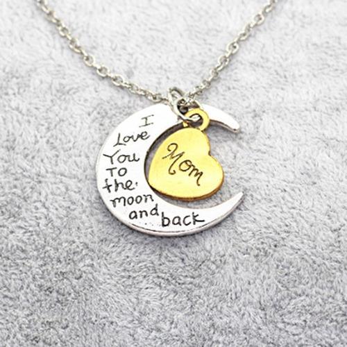 collar i love mom, excelente regalo para mamá