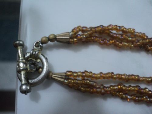 collar indu bronce