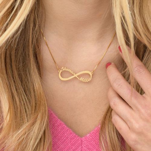 eb02d83ccc59 Collar Infinito Con Nombres En Oro Amarillo De 14k -   4