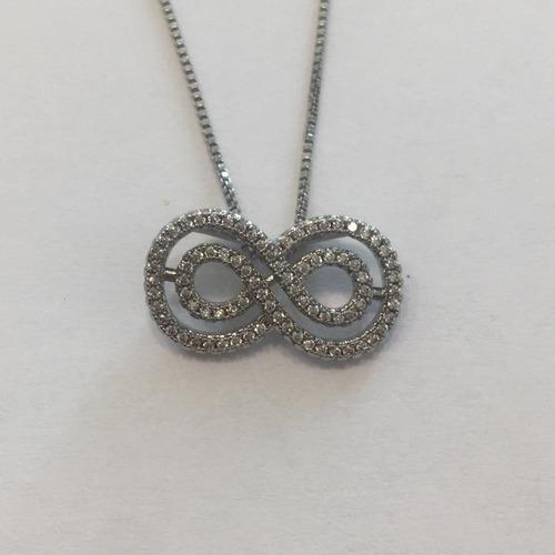 2d5d115bcb34 Collar Infinito   Oro Blanco -   300.00 en Mercado Libre
