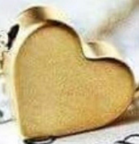 collar inicial + corazon chapa de oro