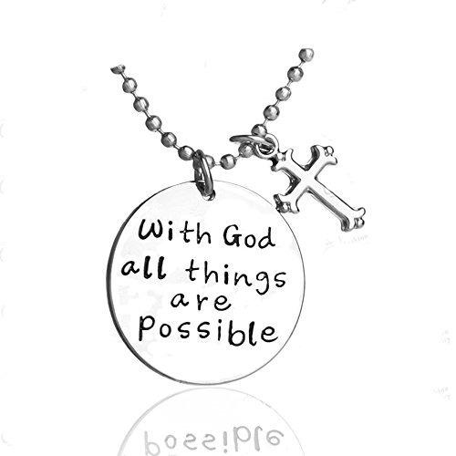 collar inspirado colgante de la cruz para la mujer