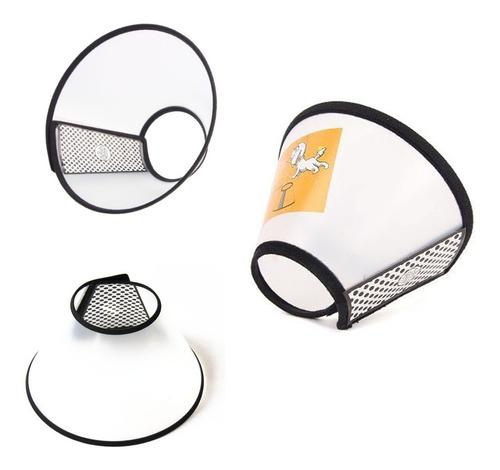 collar isabelino plástico velcro medida #2 grande/mediano