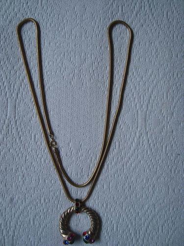 collar italiano cadena larga dije herradura imperdible!