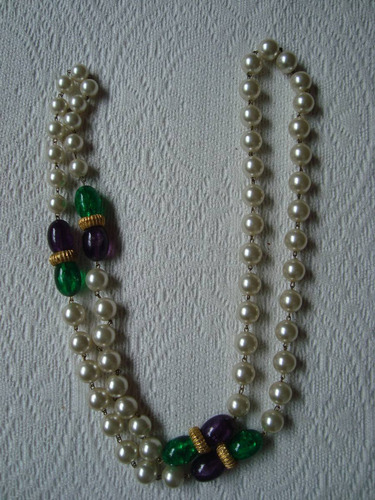 collar italiano perlas y piedras larguísimo envio gratis!