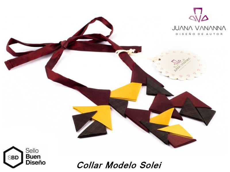 3d9728532fda Collar Juana Vananna Modelo Solei Bordo amarillo escoses -   715