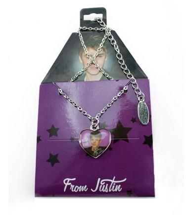collar justin bieber corazón + mini perfume someday