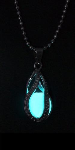 collar lagrima ángel brilla oscuridad envio gratis