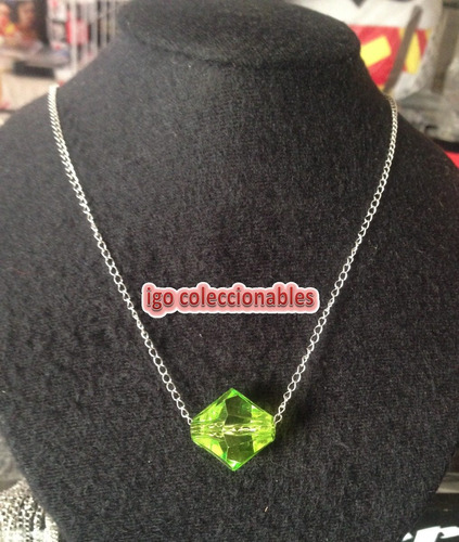 collar lana lang kriptonita verde corte rombo smallville igo