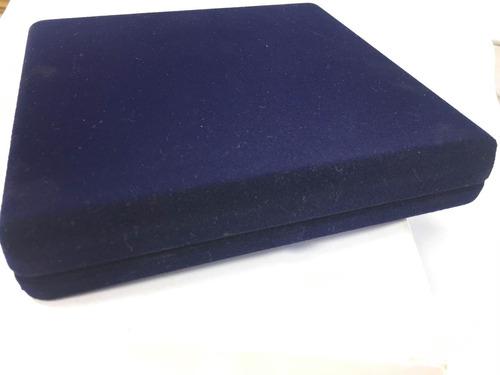 collar lapislazuli con broche timón en caja terciopelo