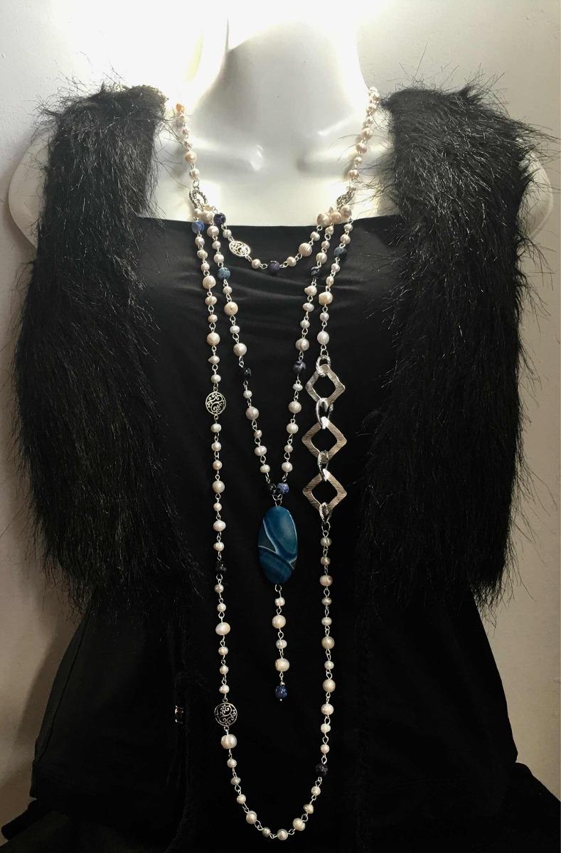 862aeaa45ba4 Collar Largo 130cm De Perlas Naturales