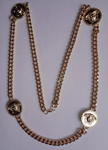 collar largo 4 medallones medusa